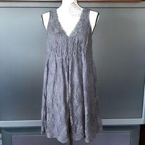 Xhilarotion gray lined lace sleeveless dress